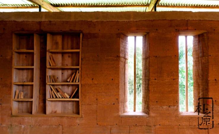 【设计物语】别具一格的乡野夯土图书馆