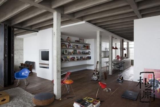 清水混凝土的现代感:清水混凝土公寓