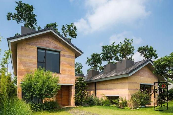 屋顶种树,这座夯土住宅不简单