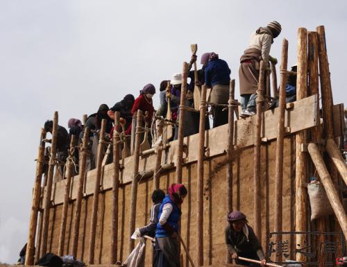 夯土墙版筑工艺