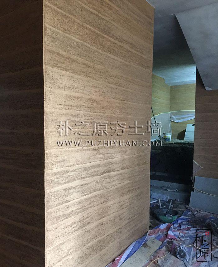 现代抹装夯土墙