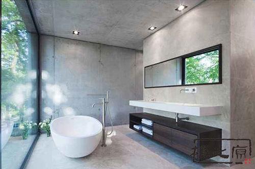 [混凝土大方砖]室内清水混凝土装饰