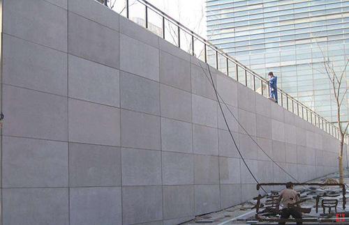 [难燃胶合板]清水混凝土挂板安装