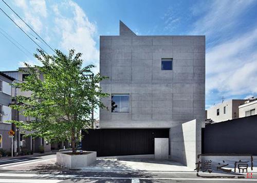 [灰色水泥瓦]清水混凝土建筑